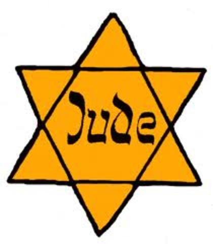 Yellow Stars Required to be Worn by Polish Jews