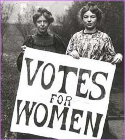 Current of thought- Suffragettes-no rights