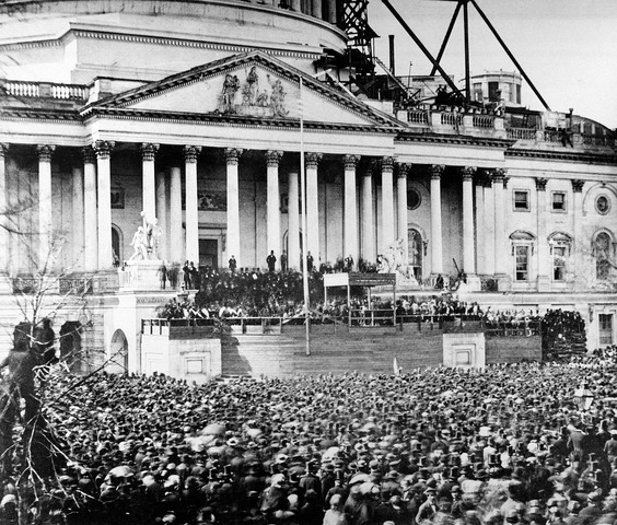 Abraham Lincoln elected president  (first term)