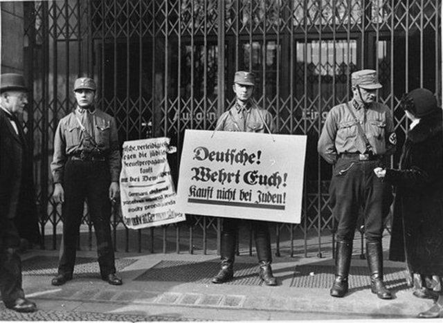 Jewish Shops Boycotted