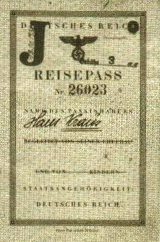 Jewish Passports Stamped With J