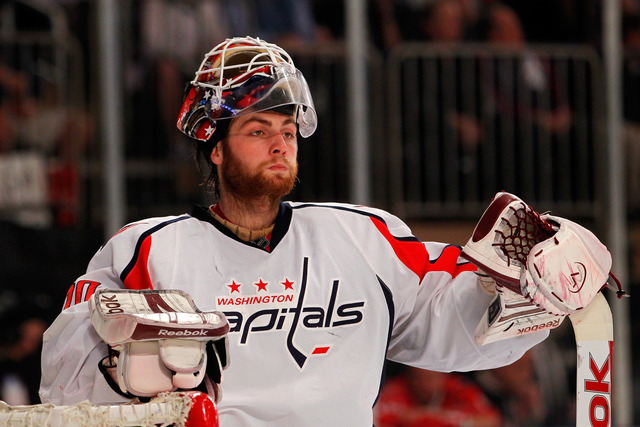 Holtby records first career playoff victory