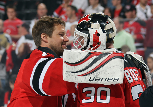 Brodeur sets playoff record for shutouts
