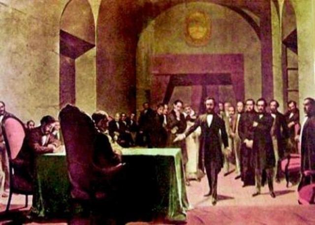 La Asamblea Constituyente jura ante el Segundo Triunvirato