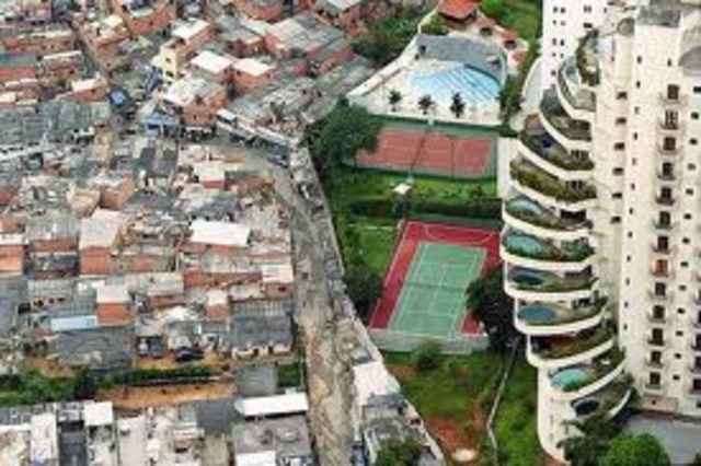 Contrast between Wealthy and Poverty