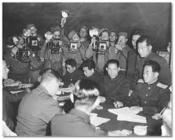 Korean War Armistice Signed