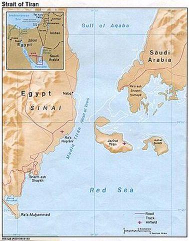 The Suez Canal, Straits of Tiran and the Gulf od Aqaba