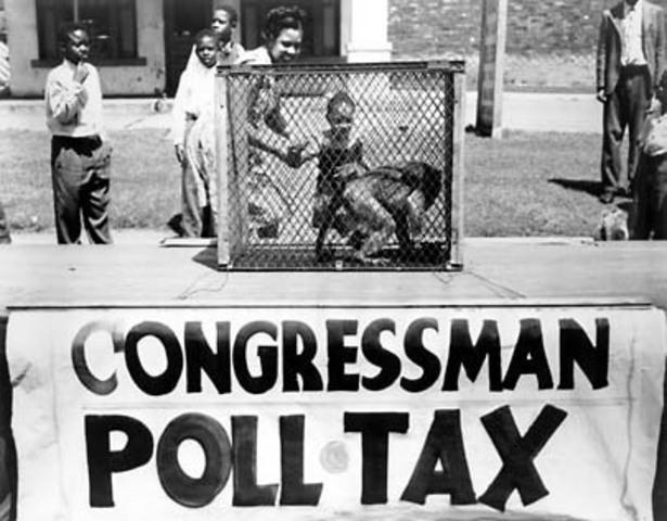 24th Amendment outlaws poll tax