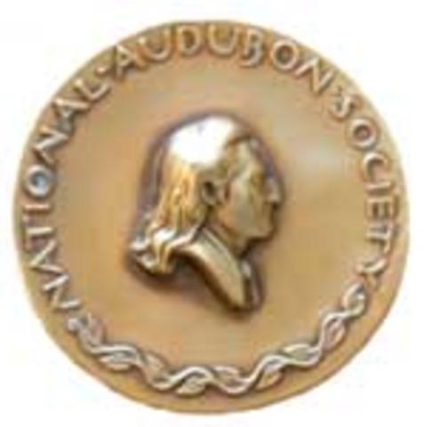 Awarded the National Audubon Society Medal