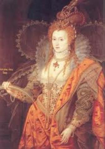Elizabeth I stars her  rule