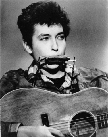 """Bob Dylan made his first entry into the UK charts with his single """"The- Times- They- Are- A- Changin'"""""""