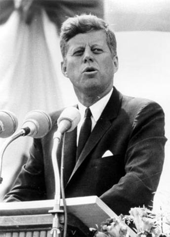JFK Vows Moon Landing