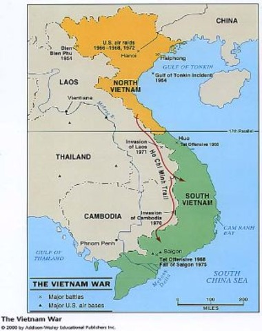 Vietnam Officially Divided
