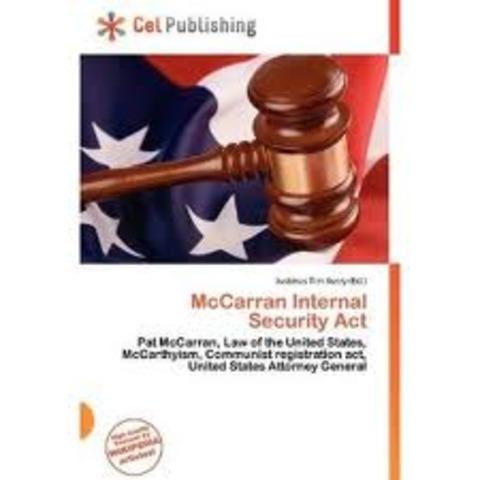 McCarran Internal Security Act