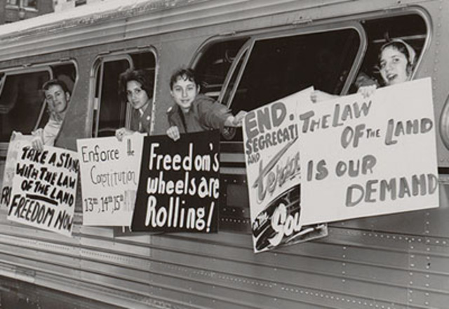 Freedom Riders begin Journey through South -Civil Rights