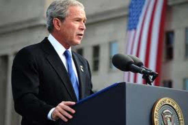 George Bush is sworn in as the 43rd President of the USA