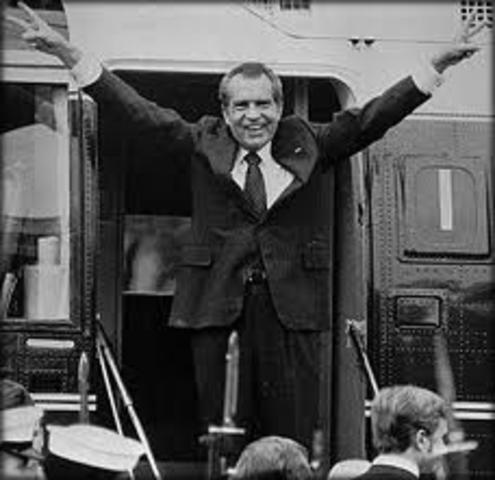 Nixon drops from presidency