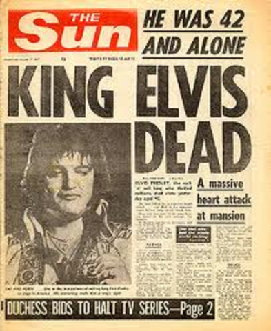 Elvis found Dead at age 42