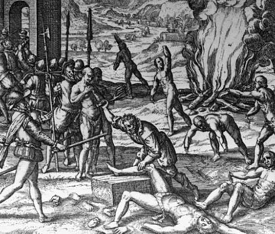 1492 Spanish conquistadors arrive