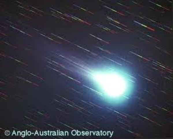 March, 1986 - Spacecraft from the U.S.S.R, Japan, and Western Europe fly by Halley's Comet on it's 30th recorded appearance.
