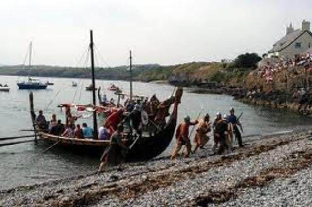Etablissement de colonie Viking norvegiens