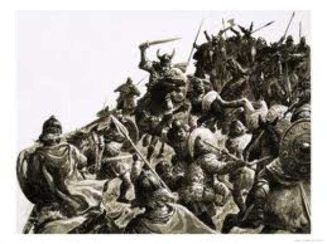 Debuts des attaques des Vikings en Angleterre