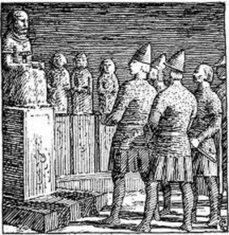 Olav Ier devient roi de Norvège et déclare ce territoire un royaume chrétien.