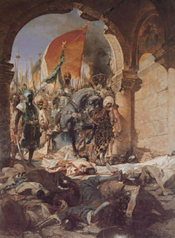 Attaque des Vikings contre Constantinople (Istanbul).