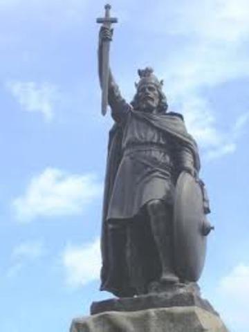 Alfred le Grand (à droite) met fin à l'avance des Danois en Angleterre