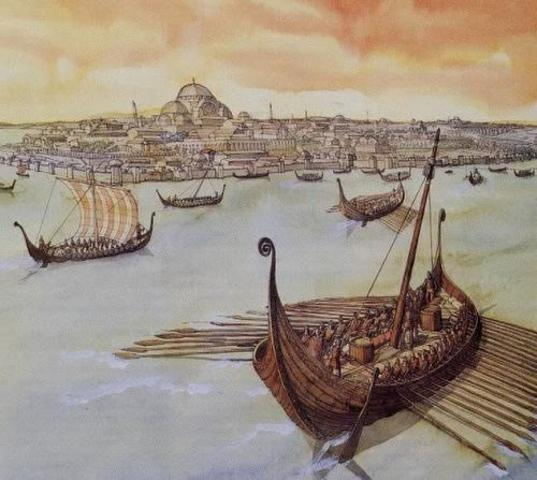 Attaque des Vikings à Constantinople (Istanbul)