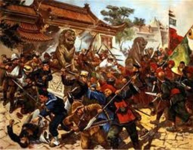 The boxer rebellion attacks the Legation Quarter