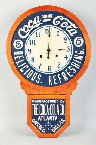 coca cola made clocks