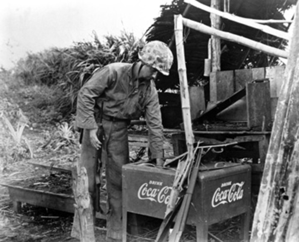 CoCa Cola goes to the front line