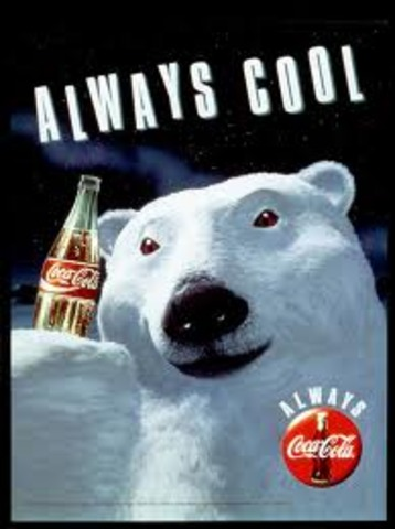 coca cola polar bear first advertisment
