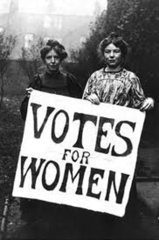 Women gain the right to vote.