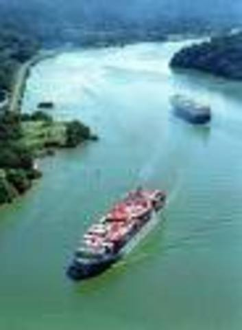 panama canal is completed