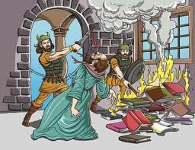 789 -Début des attaques des Vikings en Angleterre