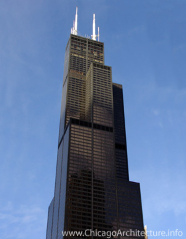 Sears tower built (Willis Tower)