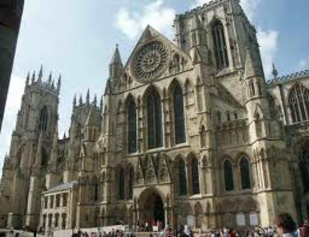 866 -Établissement d'un royaume à York, Angleterre, par des Vikings danois