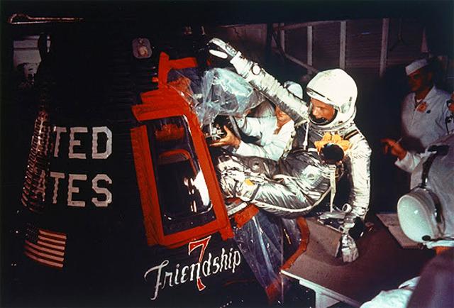 John Glenn orbits the Earth