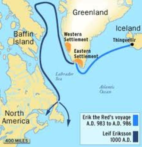 1010 -Des explorateurs vikings tentent de fonder une colonie en Amérique du Nord.