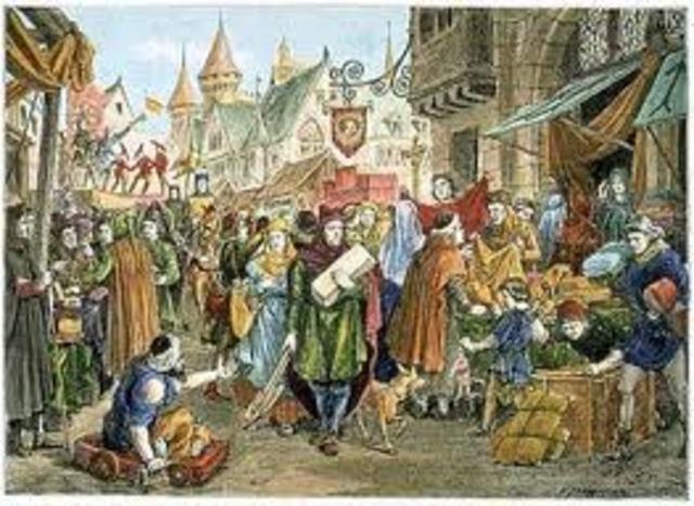 En la época medieval el trabajo en general no ganó mayor aprecio.