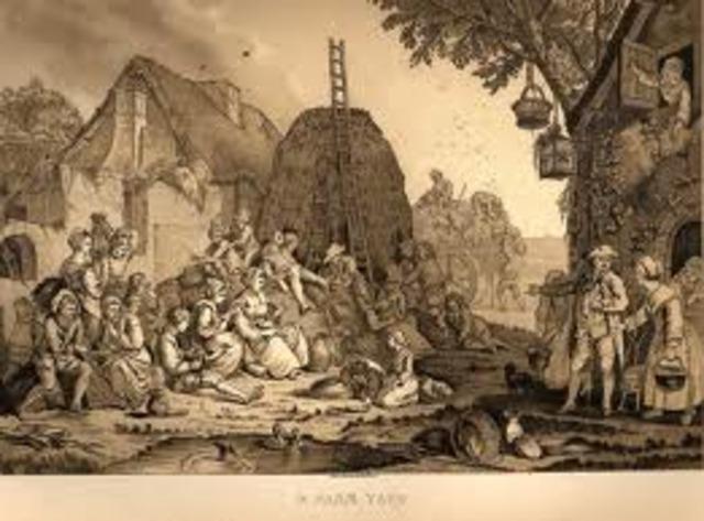 siglos XV y XVIII en Inglaterra el campesinado fue separado de la tierra de la que había dependido su vida.