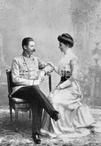 The assasination of Austria's archduke Franz Ferdinand