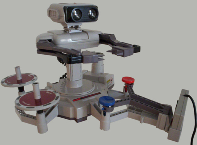 R.O.B. (Robotic Operating Buddy) is released in North America to Help Boost Sales of the NES