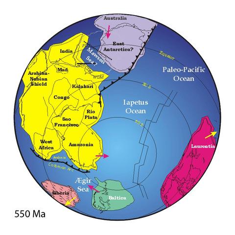 Pannotia 600 - 540 miljoner år sedan