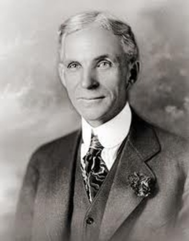 Henry Ford invents world's first assembly line.