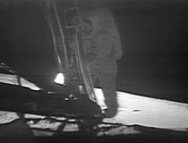 First man walks on the moon