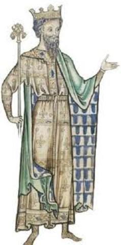 Edouard le Confesseur regne sur l'Angleterre, avec l'appuides Danois