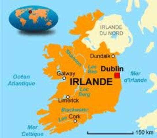 Fondation de la ville de Dublin en Irelande par des colons vikings danois